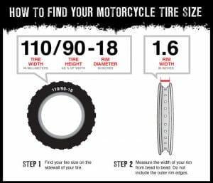 motorcycle tire size info